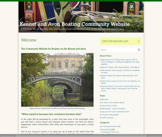The Kennet and Avon Boating Community