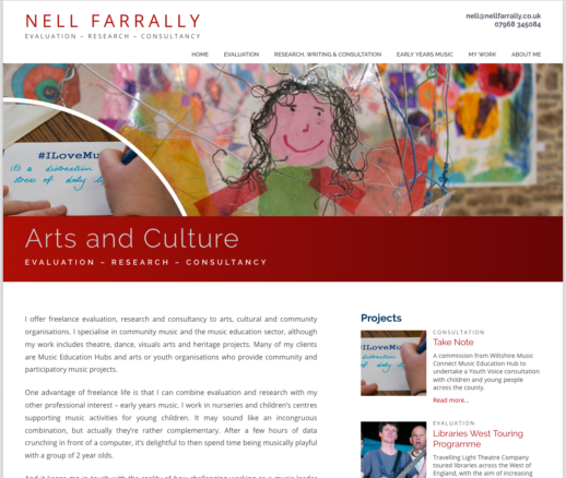 Nell Farrally Arts Consultant